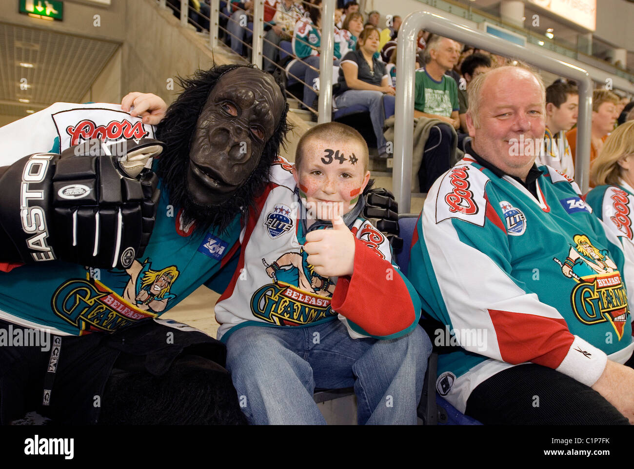 United Kingdom, Northern Ireland (Ulster), Belfast, The Arena in the Odyssey Pavilion, hockey arenas the Belfast - Stock Image