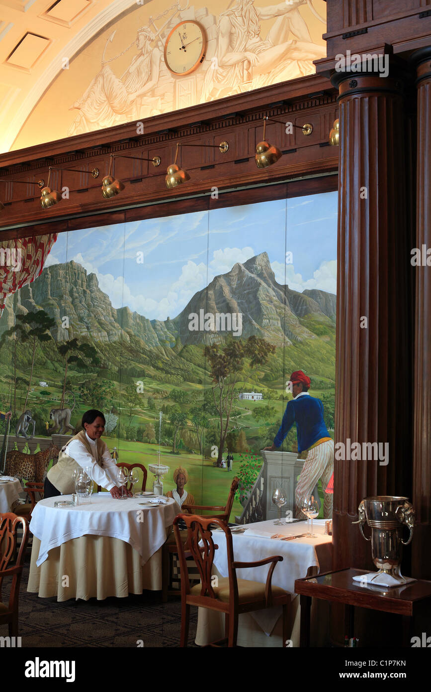 South Africa, Cape Town, 5 star Mount Nelson Hotel, Cape Colony restaurant - Stock Image