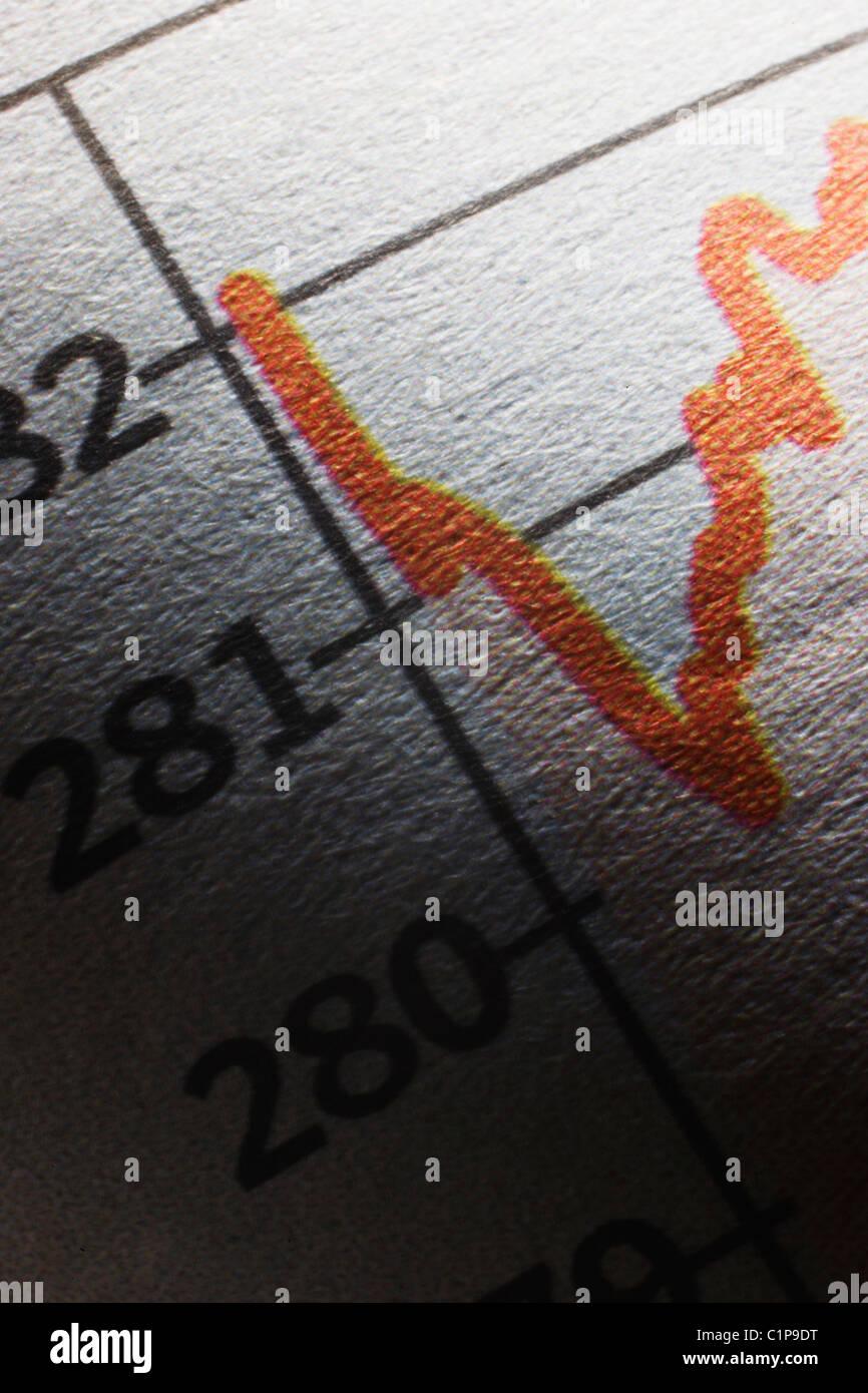 Graph - Stock Image