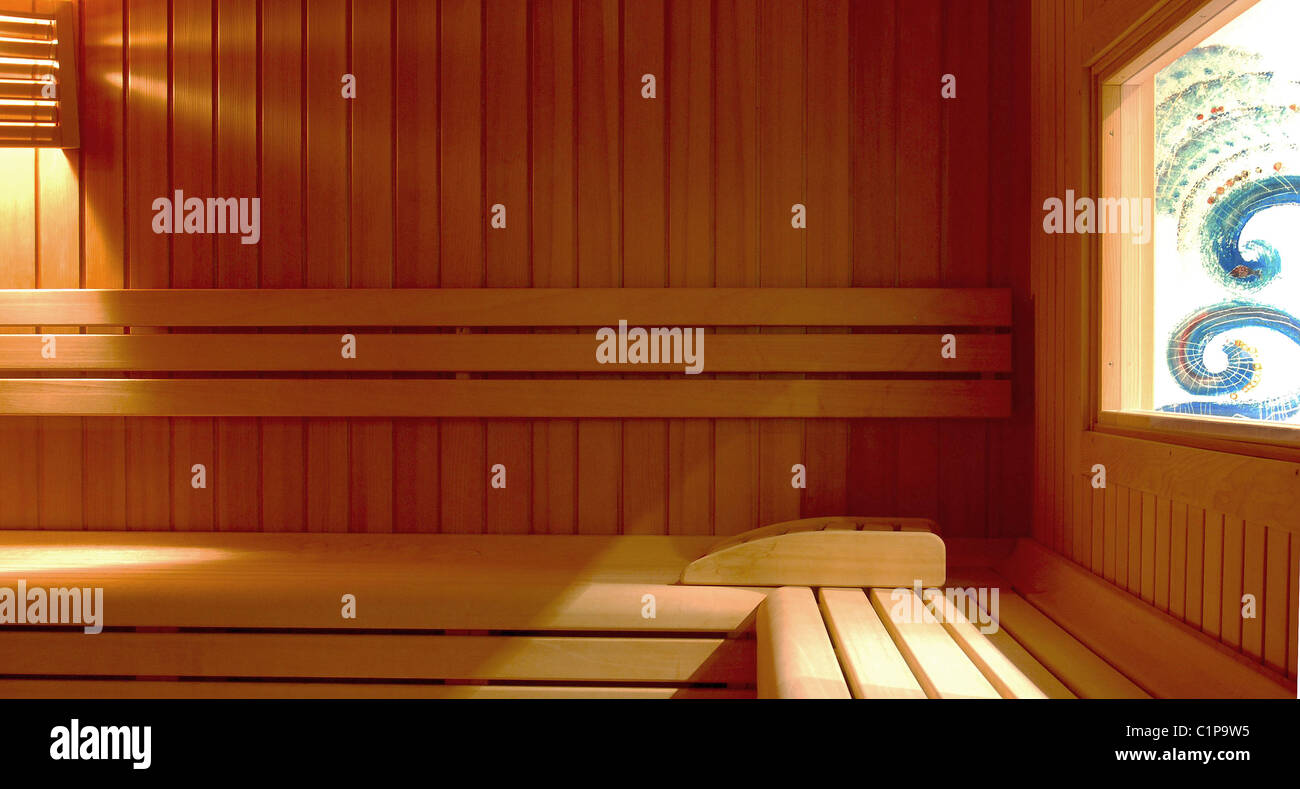 Hotel sauna spa - Stock Image