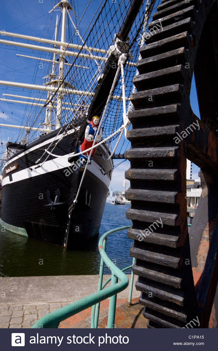 Germany, Bremerhaven, Seute Deern, ship in harbour - Stock Image