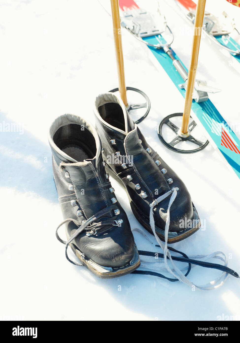 Skiing equipment - Stock Image