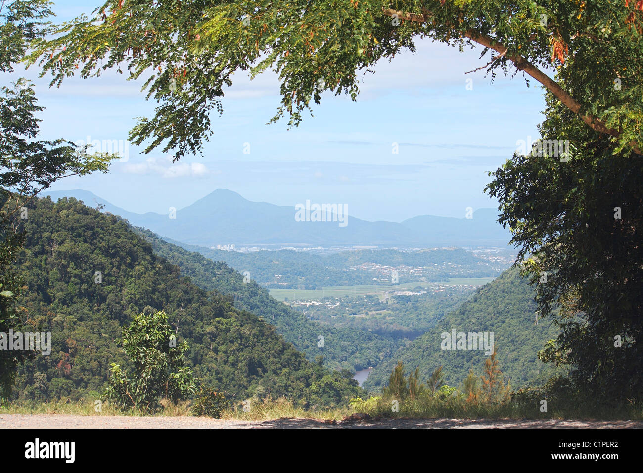 Australia, Atherton Tableland, Barron Gorge National Park, View of valley with landscape - Stock Image