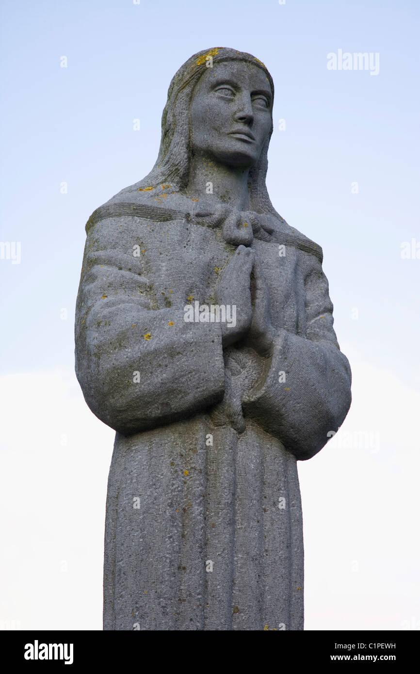 Republic of Ireland, Kildare, St. Brigid statue - Stock Image