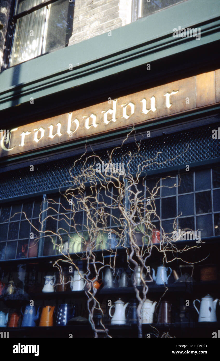 The Troubadour, Old Brompton Rd. Famous '50's coffee house in Earl's Court. Also includes a deli, gallery - Stock Image