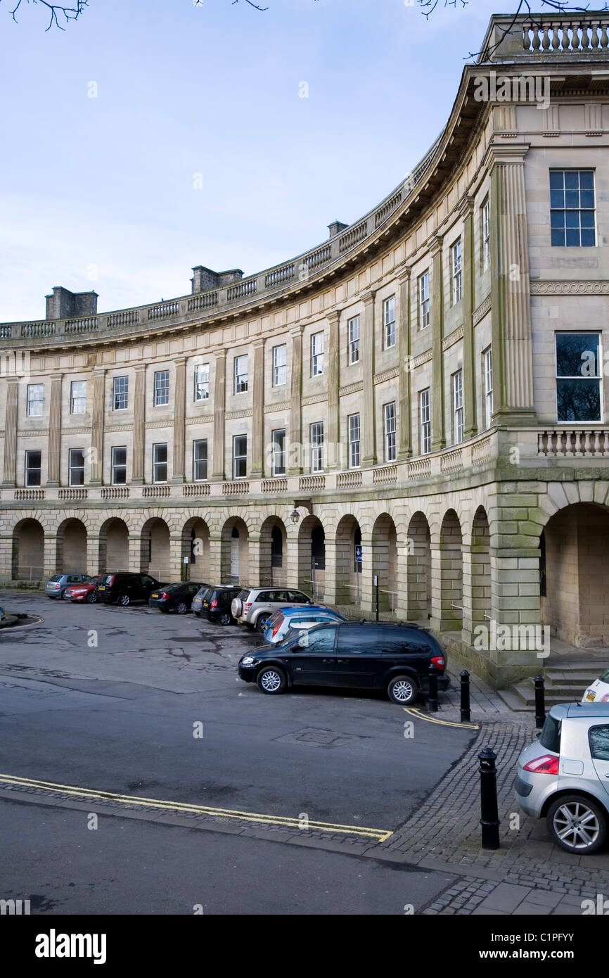 England, Derbyshire, Buxton, The Crescent - Stock Image