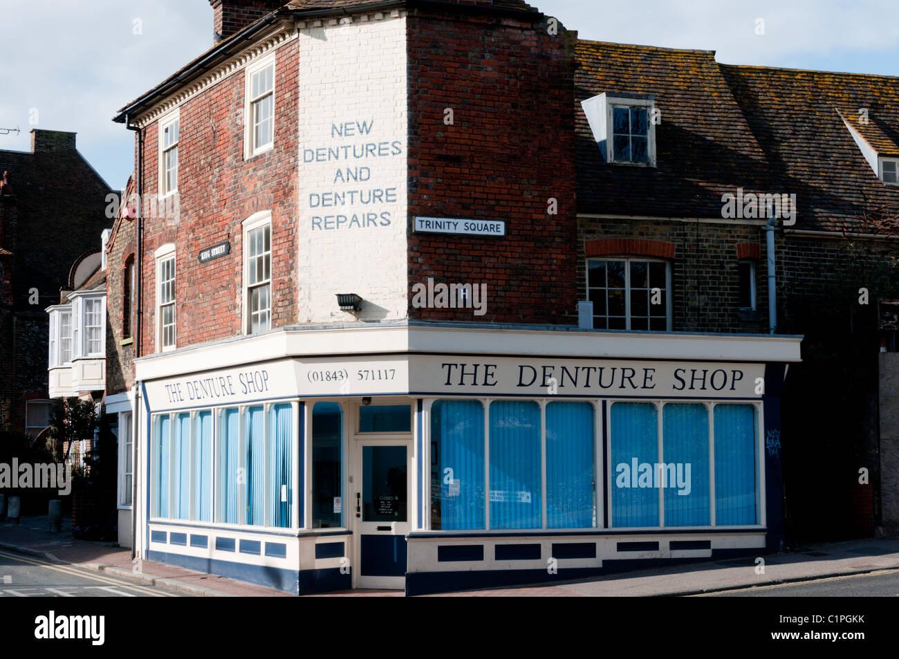 A denture repair shop in Margate, Kent - Stock Image