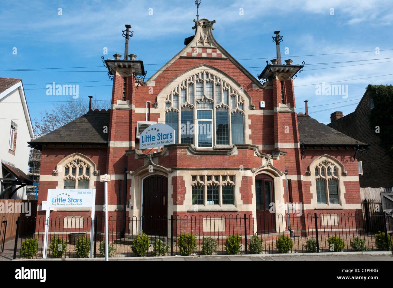The Little Stars day nursery and preschool in Shortlands is run by Casterbridge Nurseries Ltd. - Stock Image