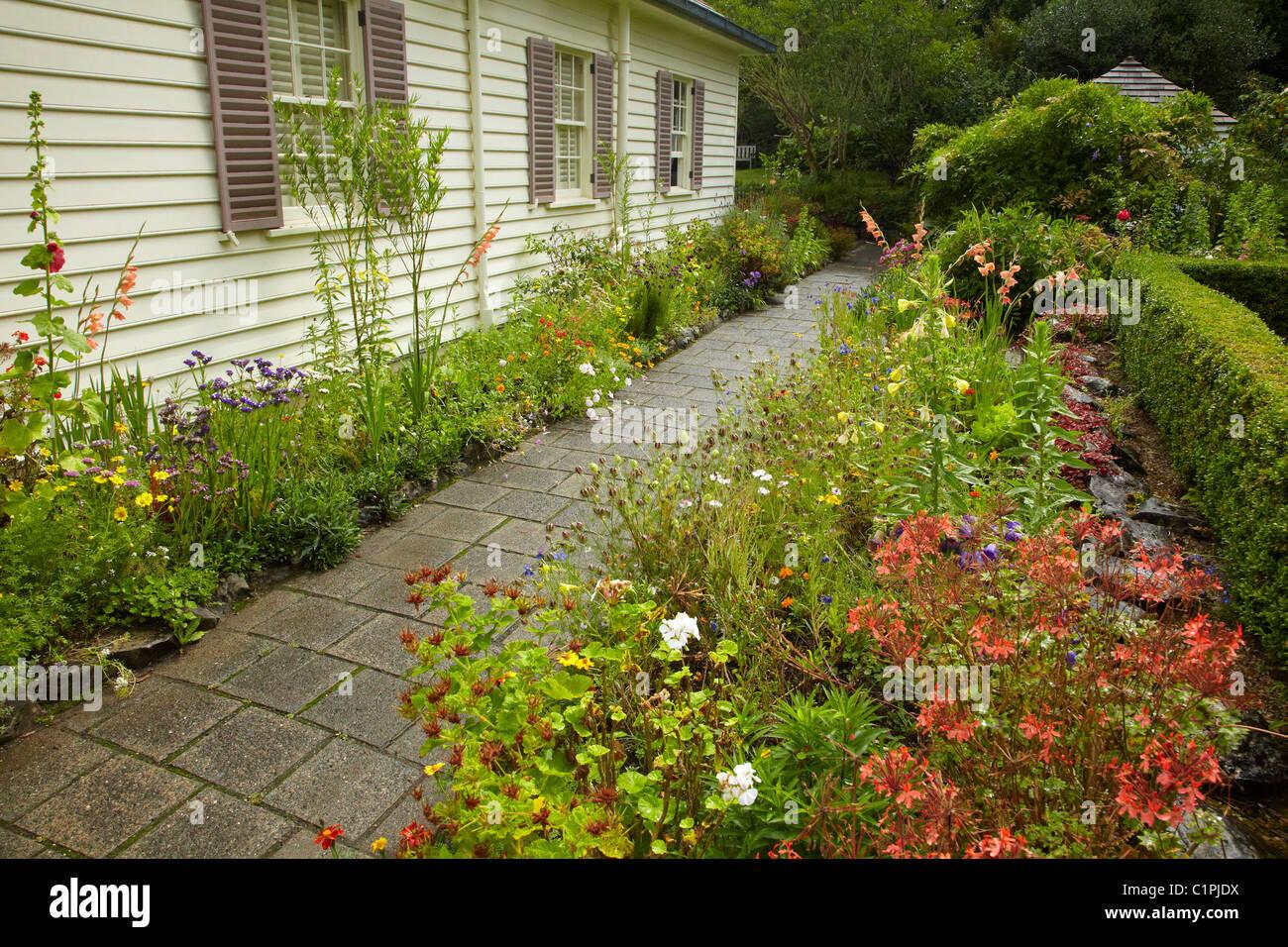 Treaty House, Waitangi, Bay of Islands, Northland, North Island, New Zealand Stock Photo