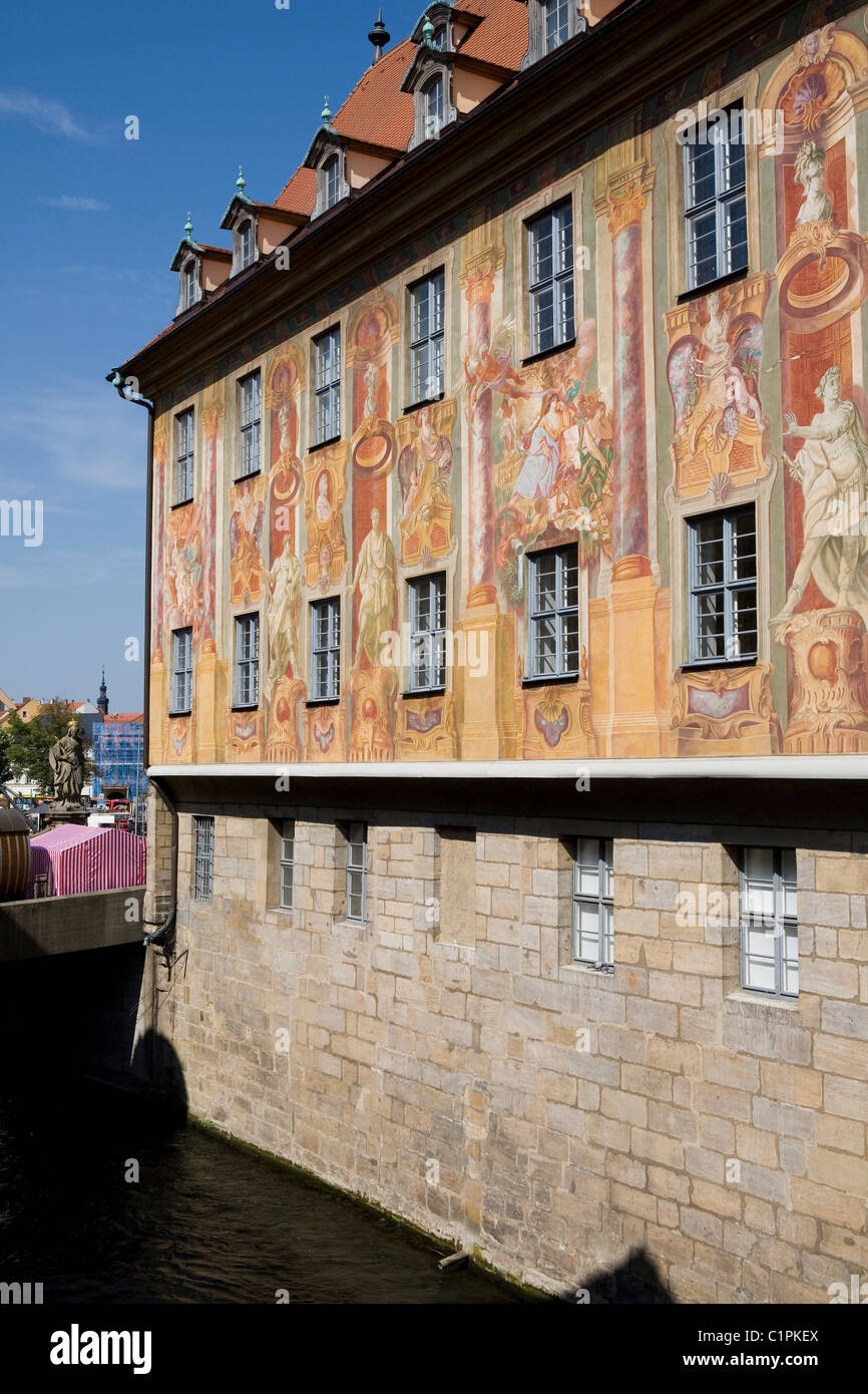 Germany, Bavaria, Bamberg, Altes Rathaus, Sgraffito - Stock Image