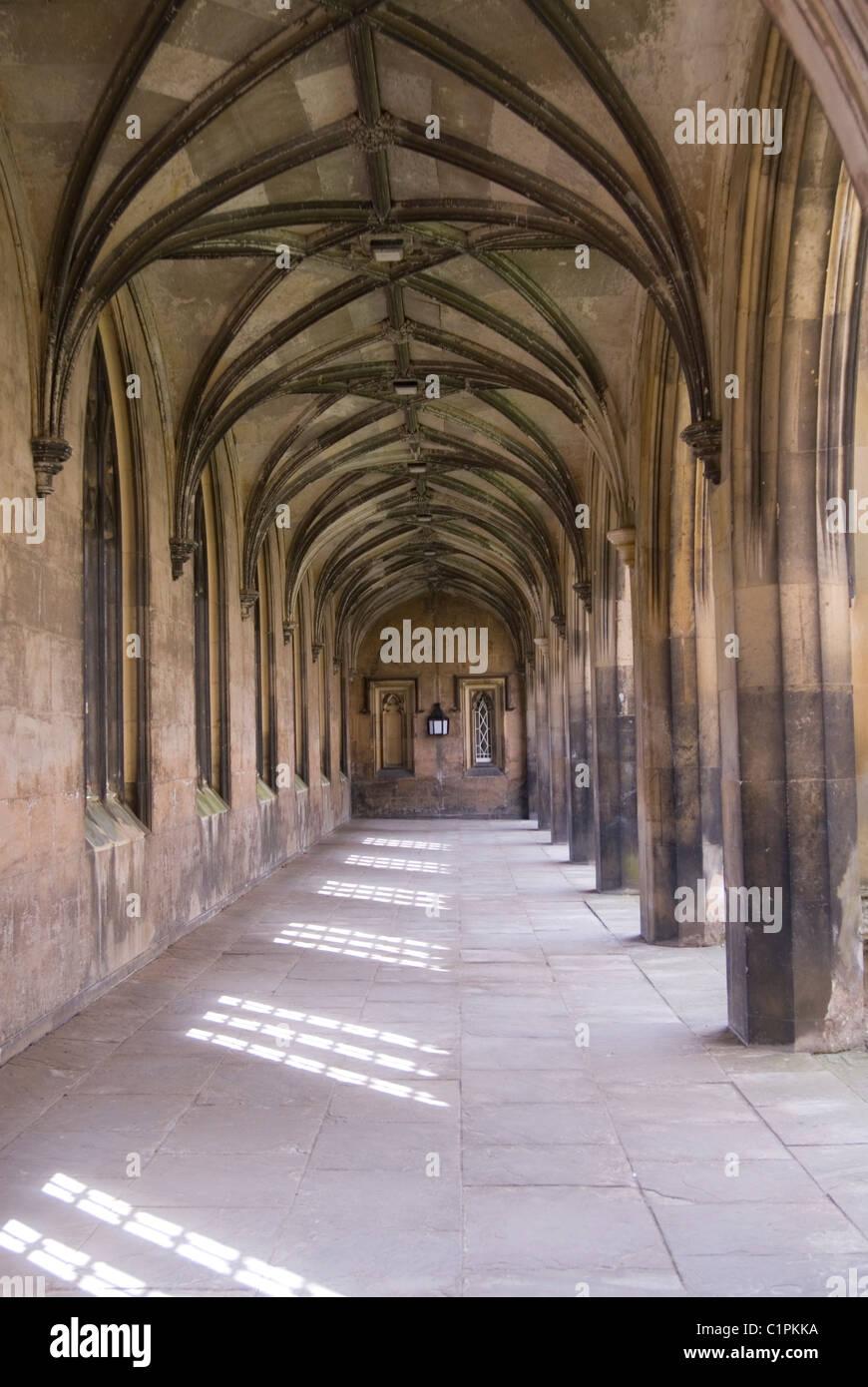 England, Cambridge, St. John's College cloisters - Stock Image