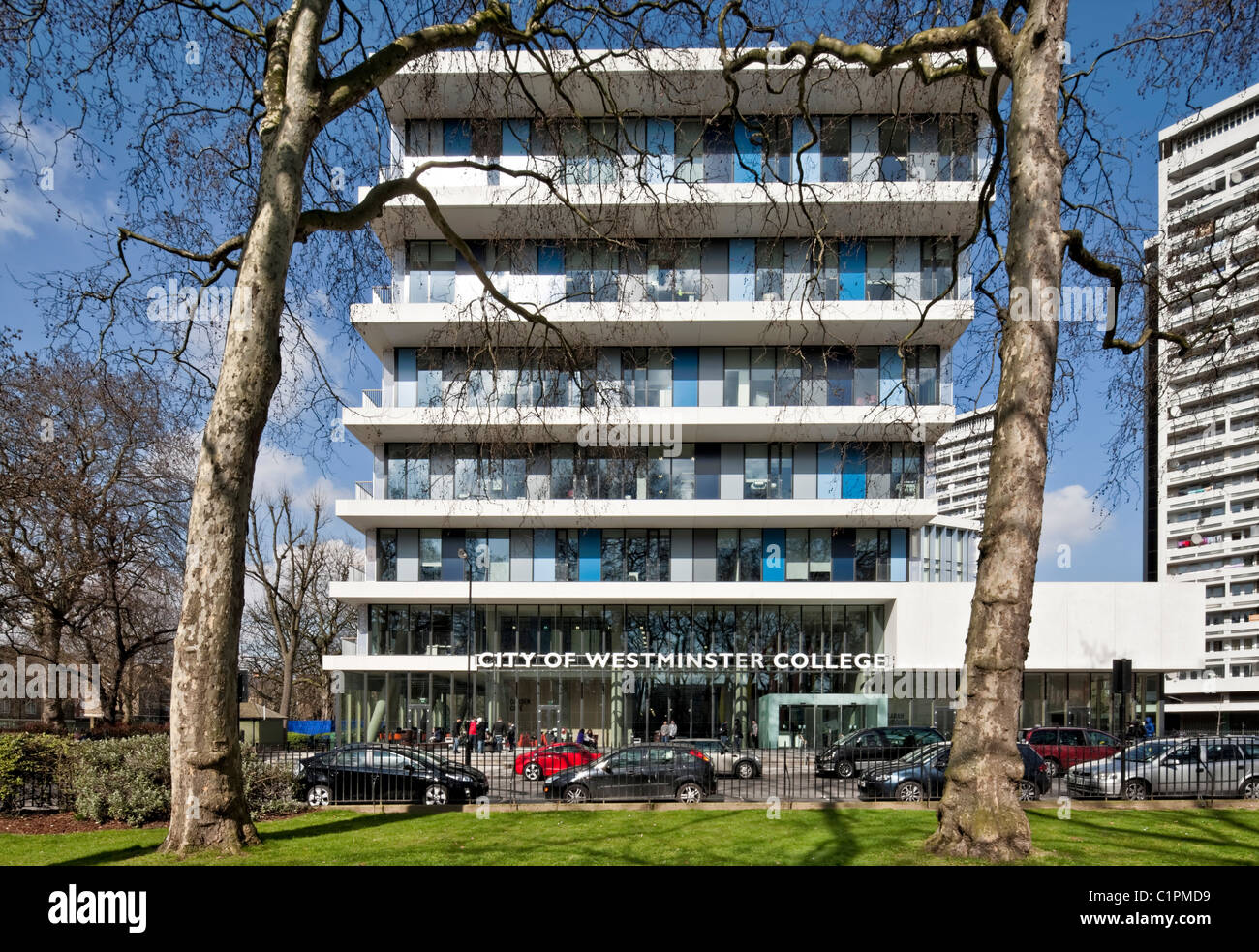 City of Westminster College designed by schmidt hammer lassen architects. - Stock Image