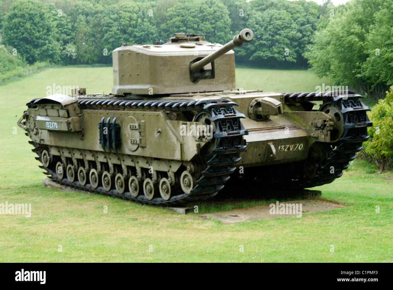 England, Norfolk, Weybourne, Muckleburgh Collection, tank - Stock Image