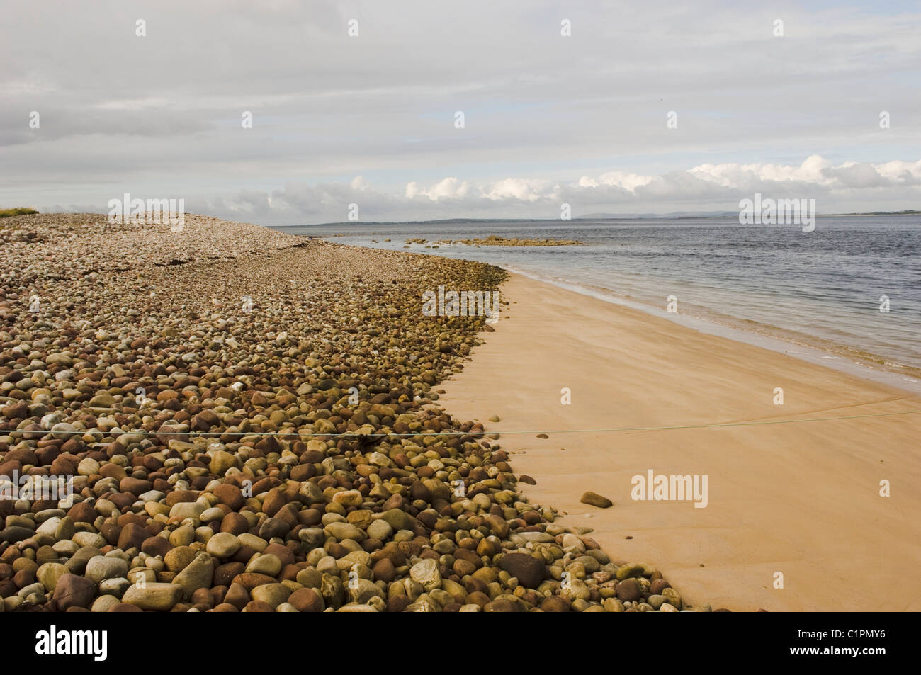 Republic of Ireland, County Mayo, Achill Island, Golden Strand - Stock Image