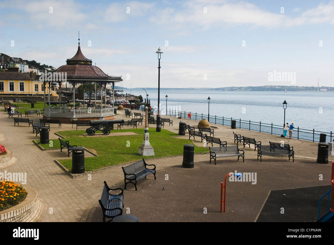 Republic of Ireland, County Cork, Cobh, bandstand on promenade - Stock Image