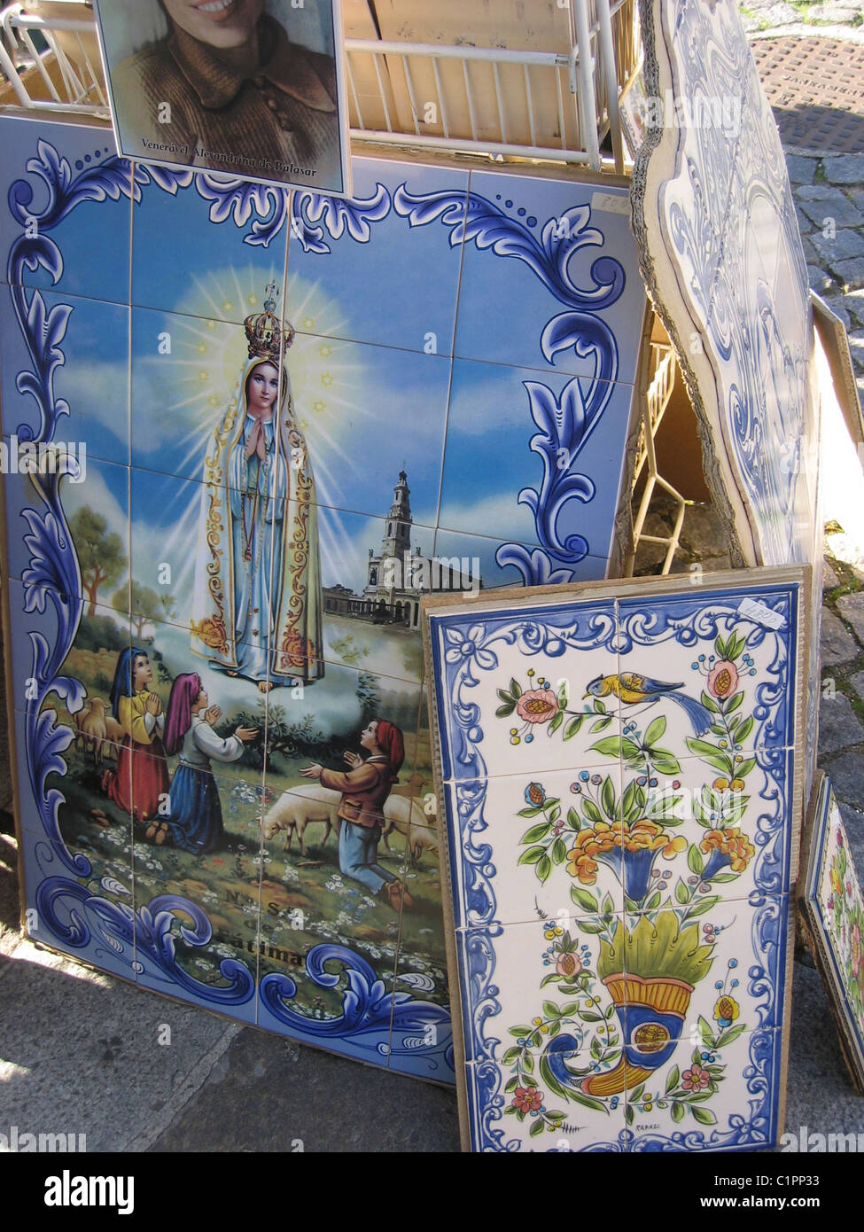 Portugal Lisbon. Handpainted ceramic souvenir wall-tiles for sale ...