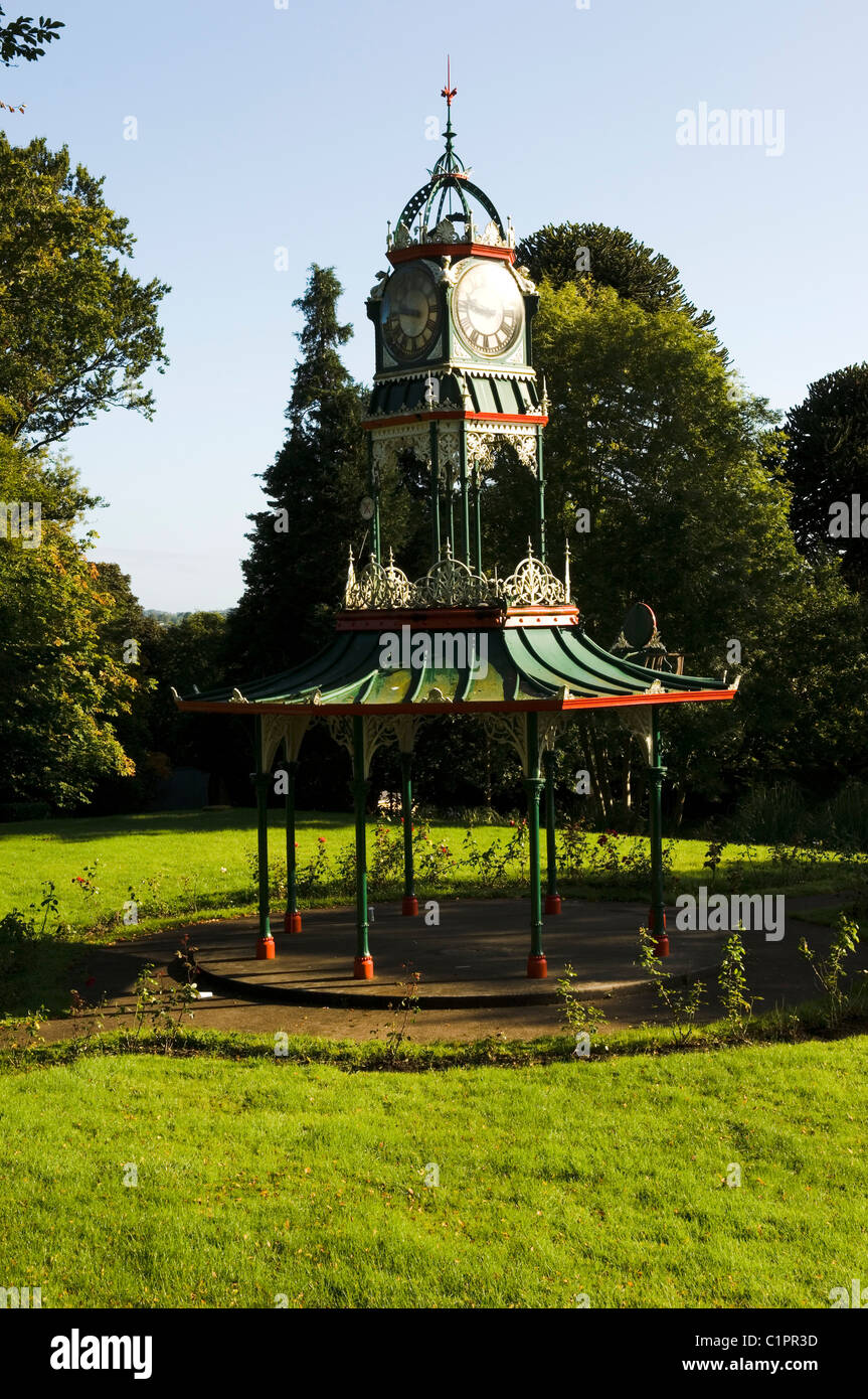 Northern Ireland, Fermanagh, Lakelands, Cast Iron Victorian Bandstand. Forthill Park - Stock Image