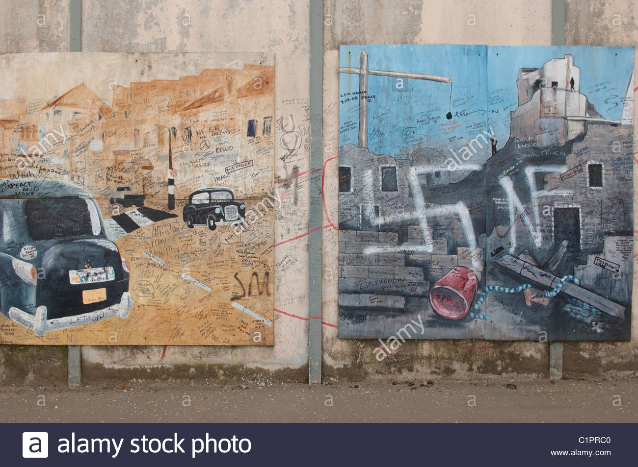 Northern Ireland, Belfast, political murals on wall - Stock Image