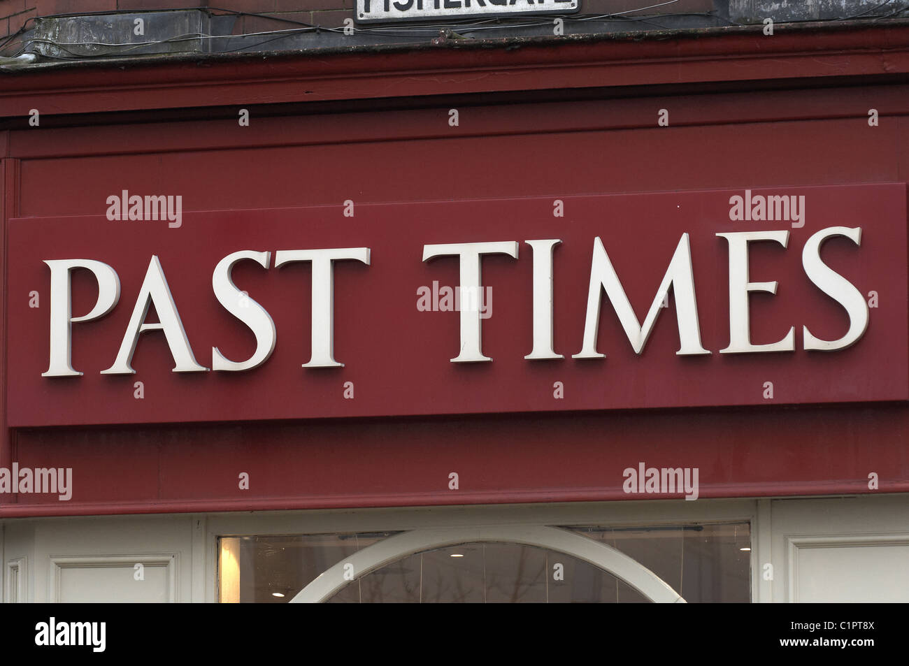 past times shop sign - Stock Image