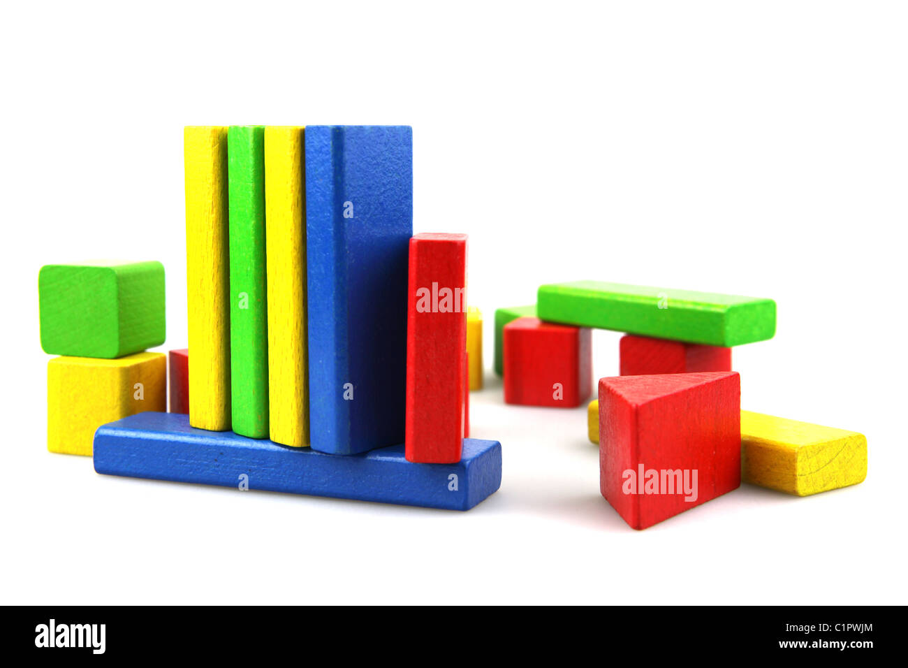 Wooden building blocks - Stock Image