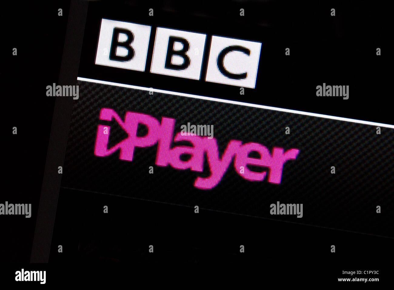 iplayer bbc screenshot - Stock Image