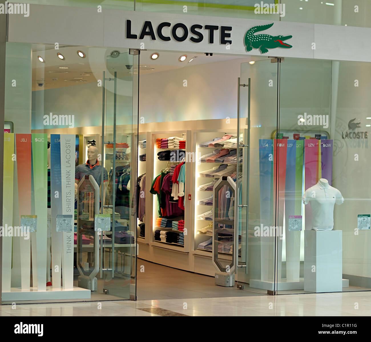 7c28592a6 Lacoste shop upper floor Westfield shopping centre