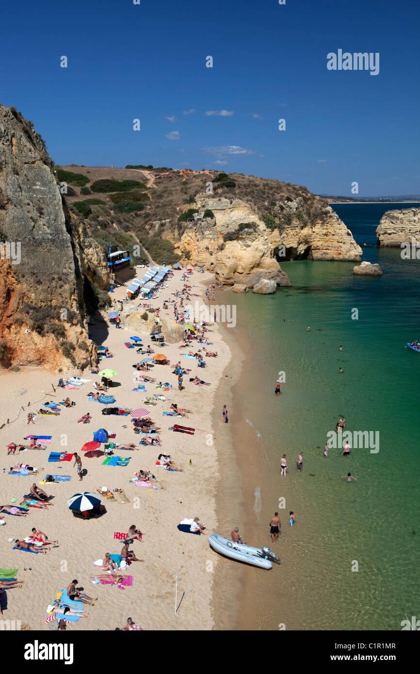 View over Algarve beach - Stock Image