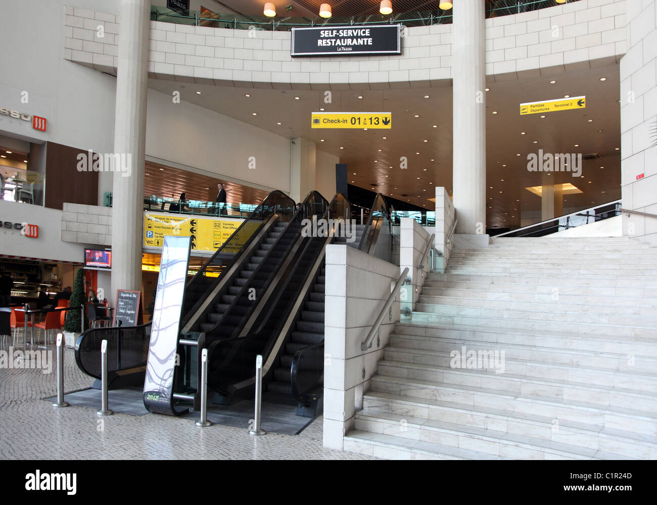 Lisbon Airport, Terminal 1, Portugal - Stock Image