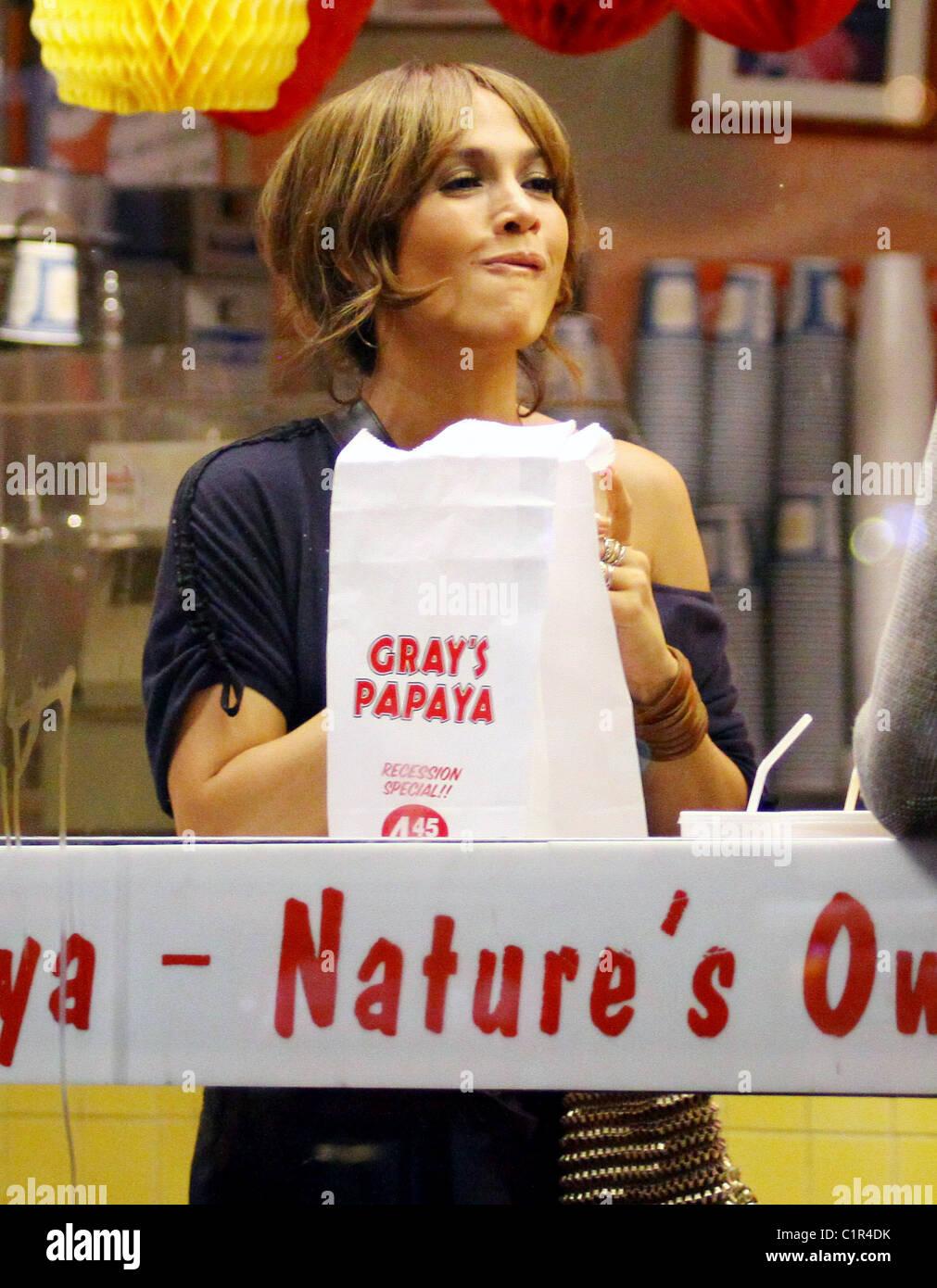 fbbce70cd279b Jennifer Lopez on the set of her new movie 'The Back-Up Plan' filming on  location at Gray's Papaya. New York City, USA -