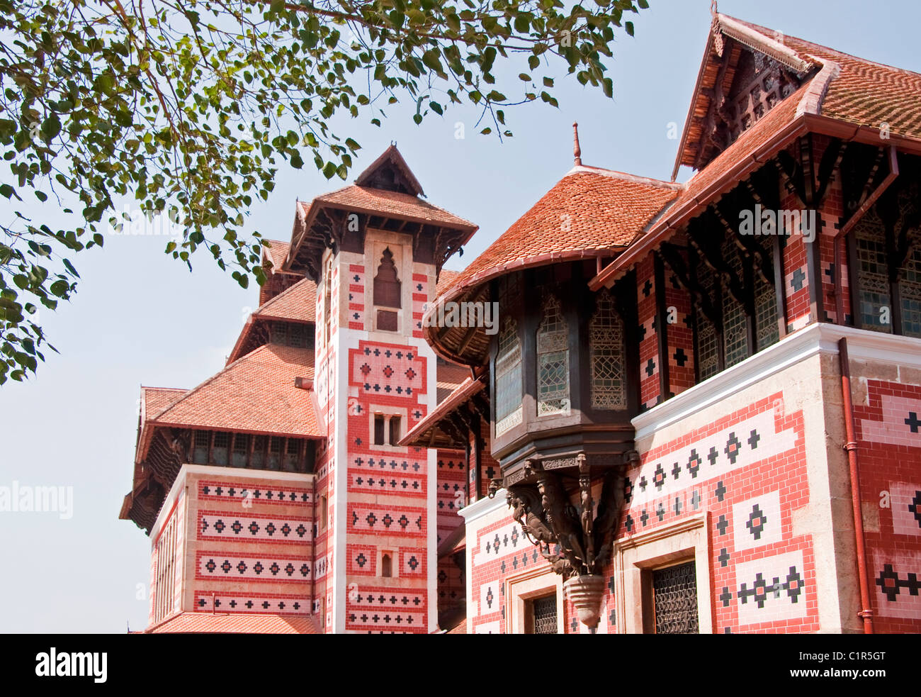 Napier Museum of Arts and Crafts in Indo-Saracenic style by architect Robert Chisholm in Kerala's capital of - Stock Image