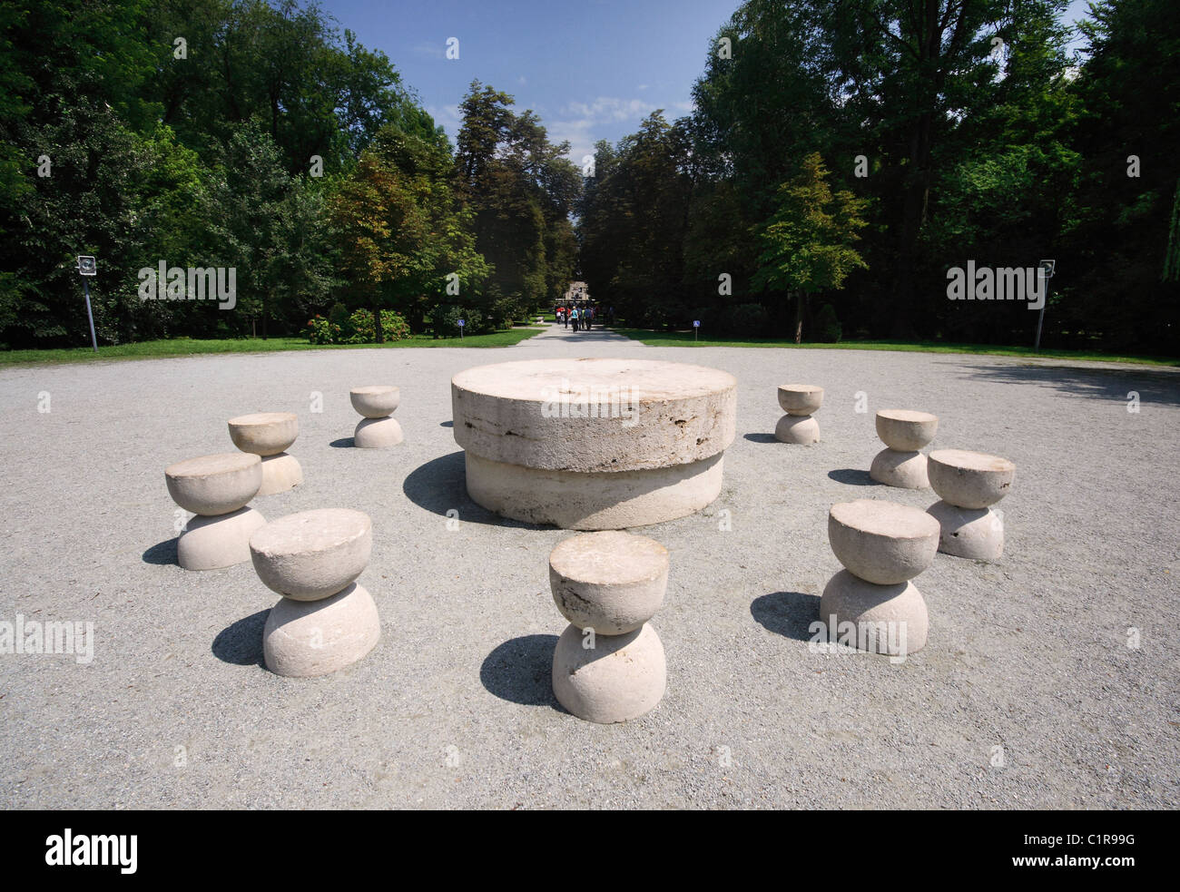 The Table of Silence - part of the The Sculptural Ensemble of Stock ... for Brancusi Table Of Silence  45jwn