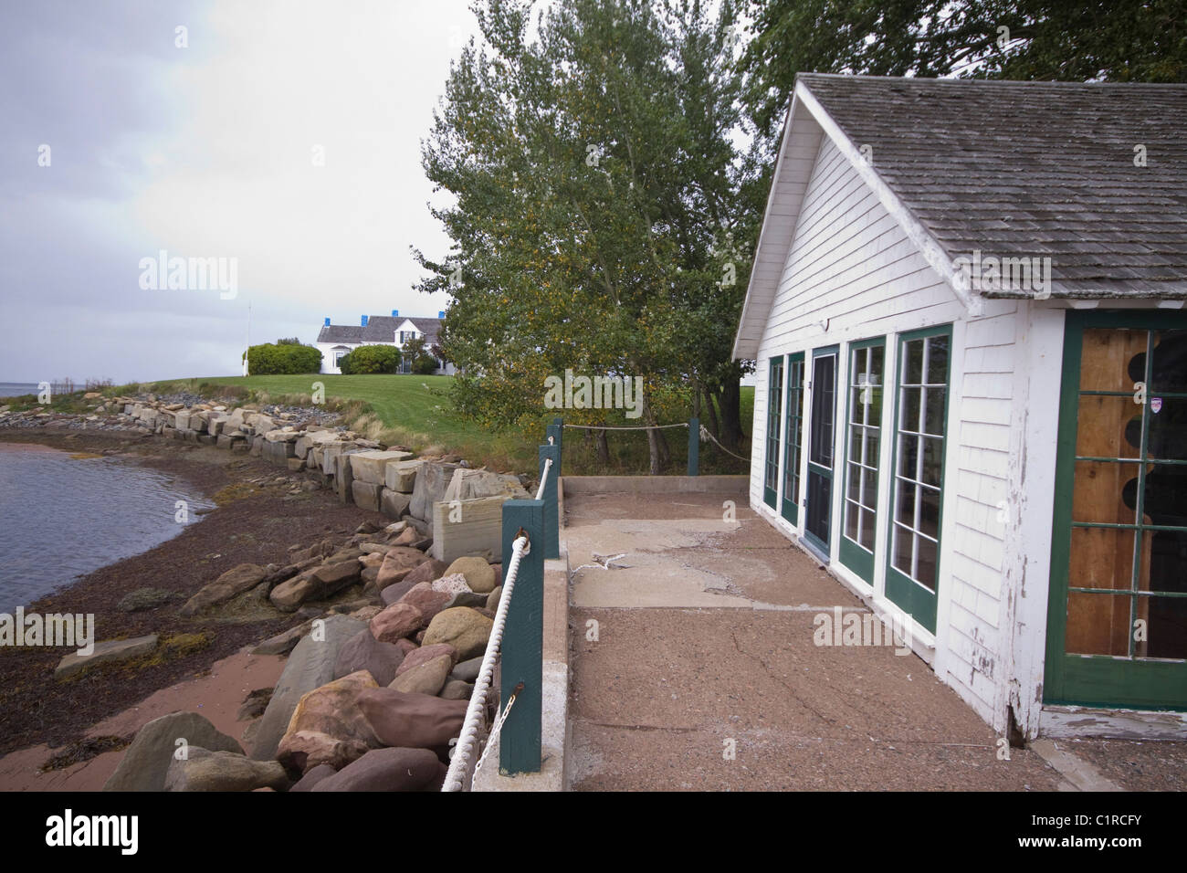 Thinkers Lodge, site of the foundation of the Pugwash conferences to promote security and peace, Pugwash Nova Scotia - Stock Image