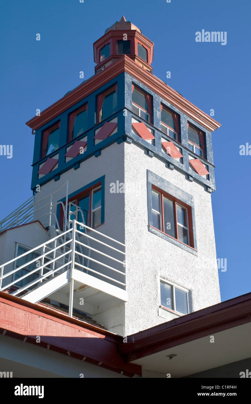 This tower sits atop 'The Lodge' in Cloudcroft, New Mexico; one of the highest towns in the state with an - Stock Image