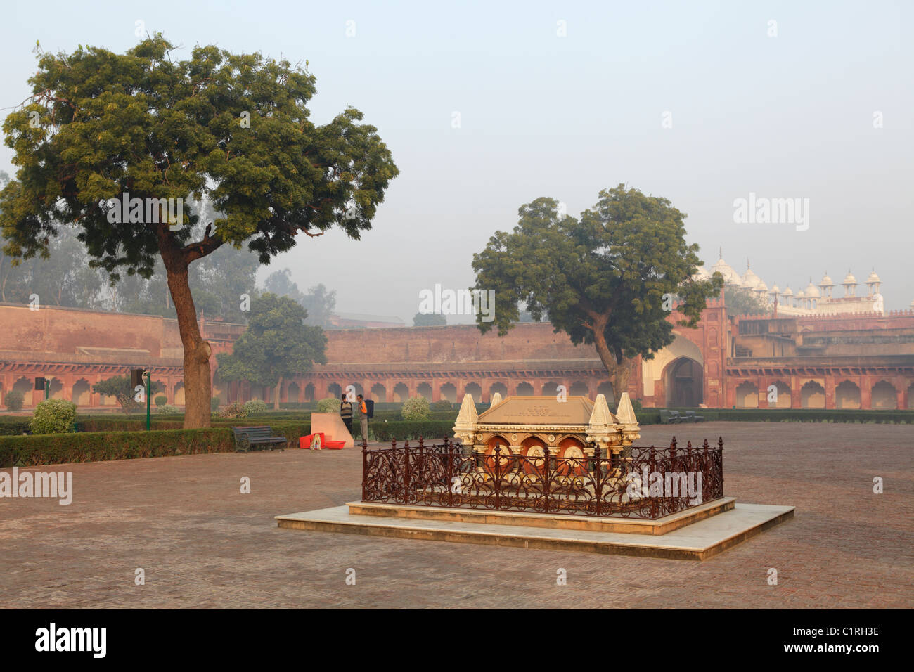 Tomb of John Russell Colvin inside the Red Fort of Agra, India - Stock Image