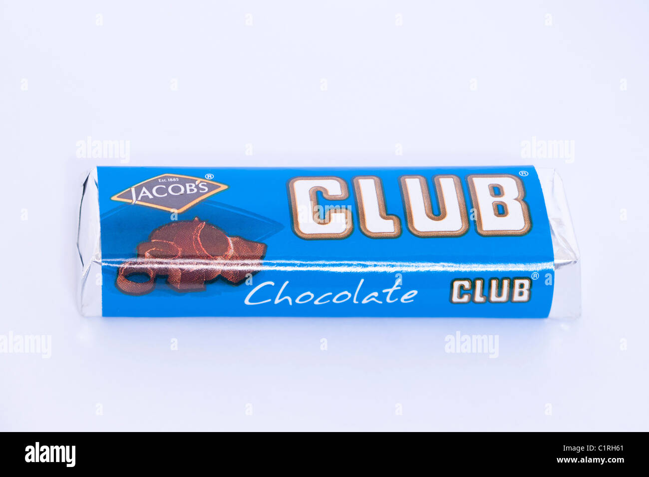 A Chocolate Flavoured Jacobs Club Chocolate Biscuit On A