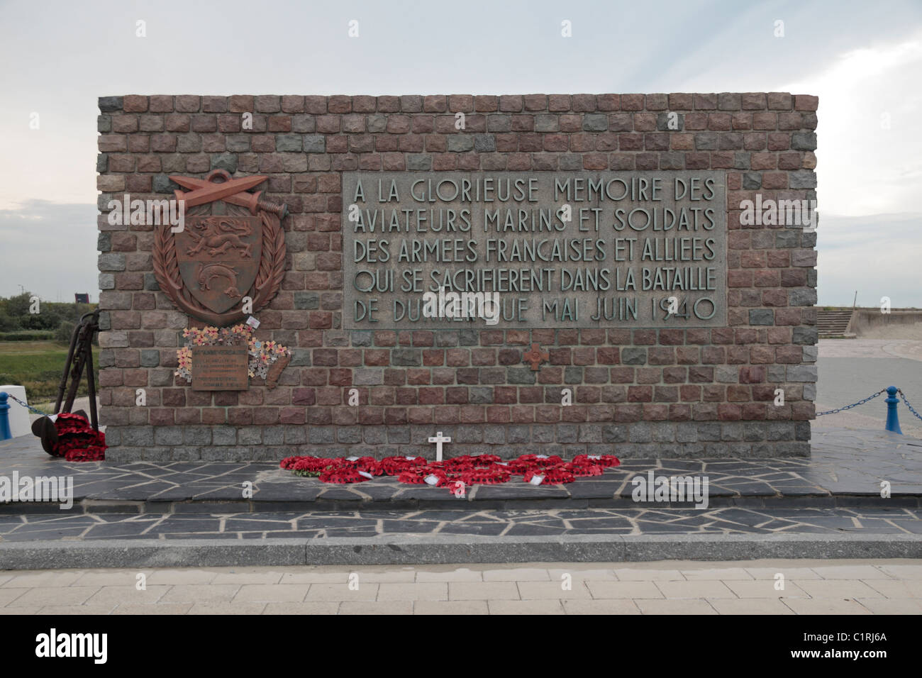 Memorial to the Battle of Dunkirk, the Allied evacuation from the beaches of Dunkerque in 1940, Dunkerque (Dunkirk), - Stock Image