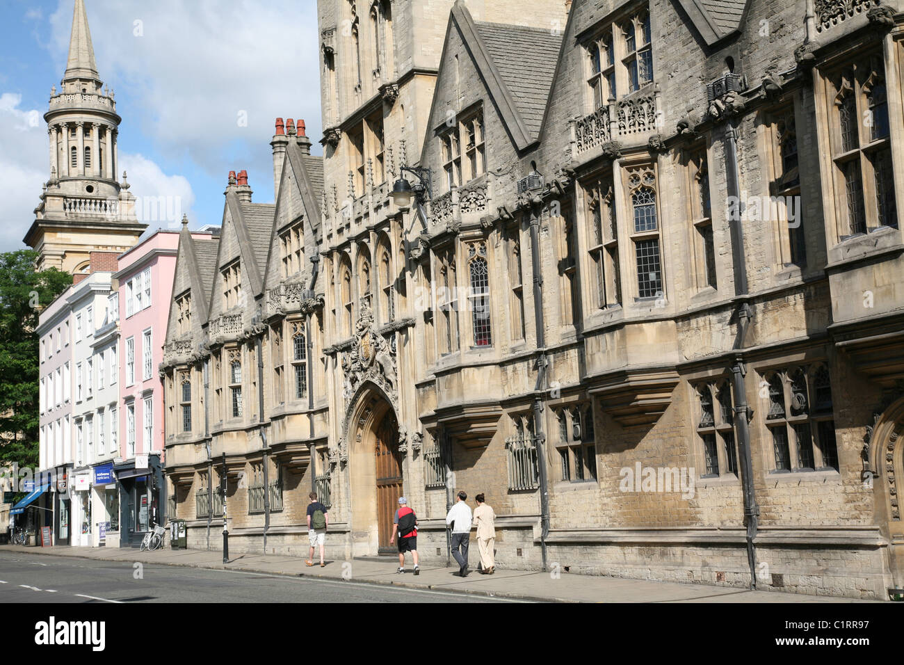 Oxford High Street and Brasenose College - Stock Image