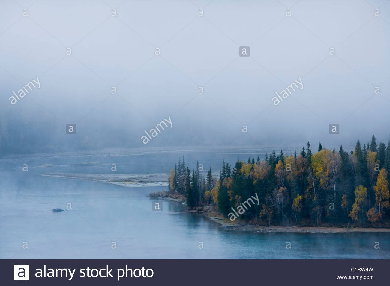 Kanas Lake, Altai Mountains, Xinjiang, China Stock Photo