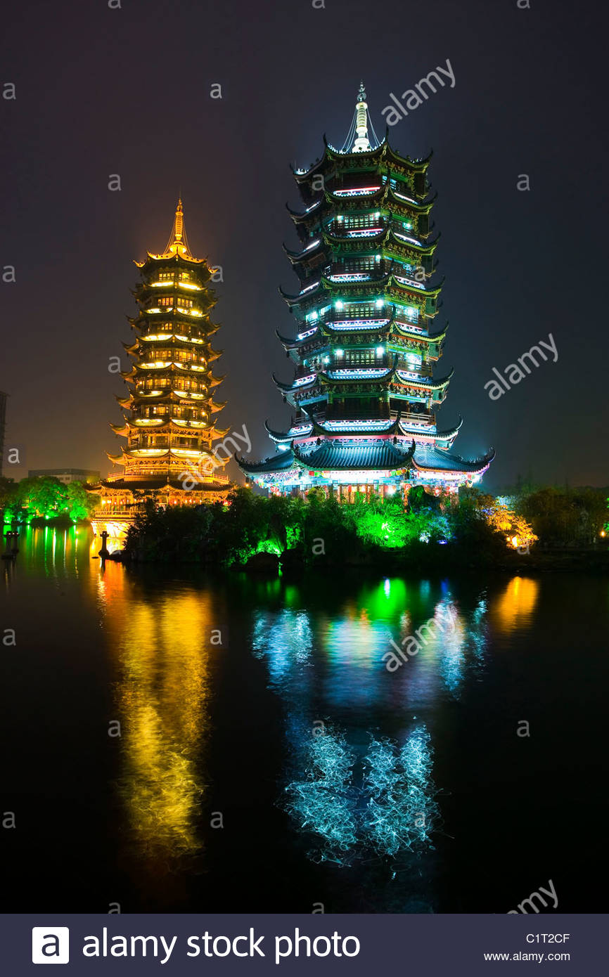 Two Rivers and Four Lakes, Guilin, Guangxi, China - Stock Image