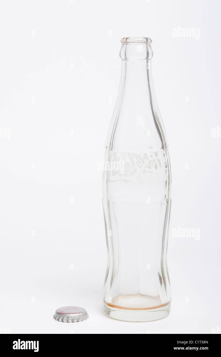 empty coca cola bottle - Stock Image