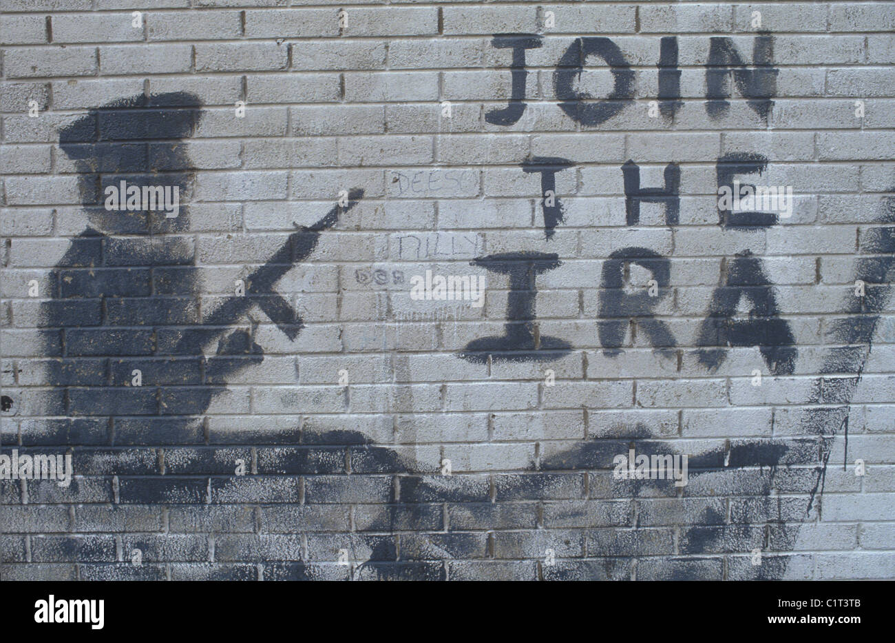 Belfast The Troubles. 1980s. IRA graffiti HOMER SYKES - Stock Image