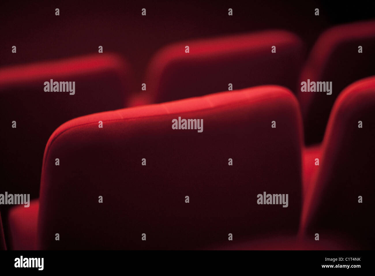 Empty theater seats, cropped Stock Photo