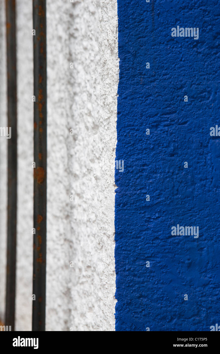 Painted stucco wall, close-up - Stock Image