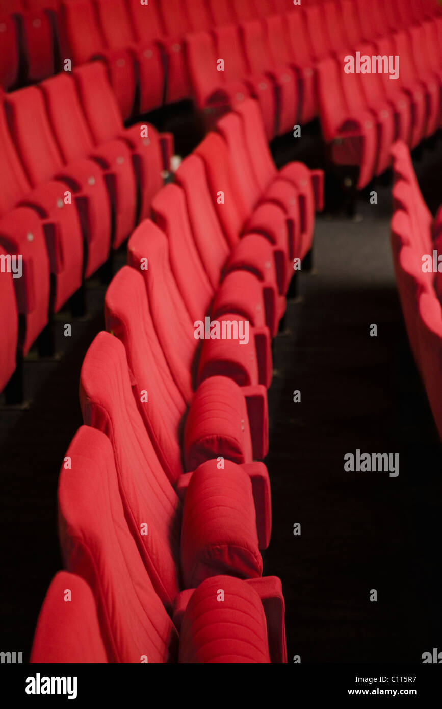 Empty theater seats Stock Photo