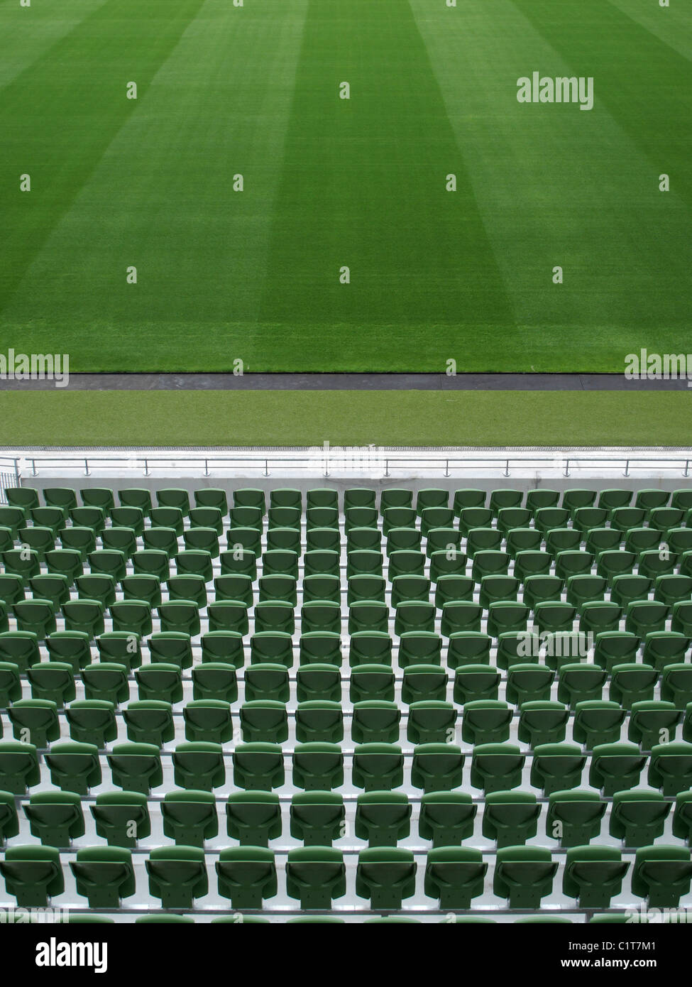 Empty stadium - Stock Image