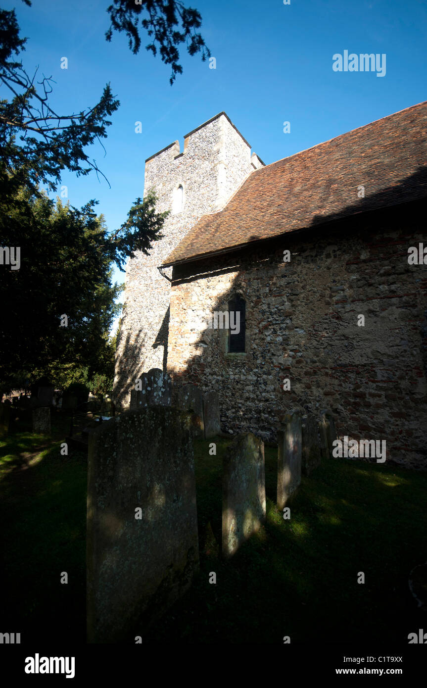 The Church of St Martin in Canterbury, England UK  the oldest church in England St Martin's - Stock Image