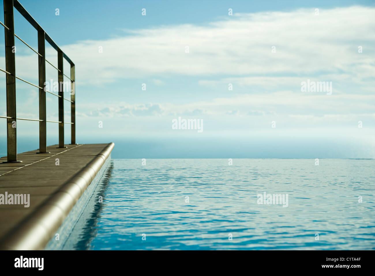 Infinity pool - Stock Image