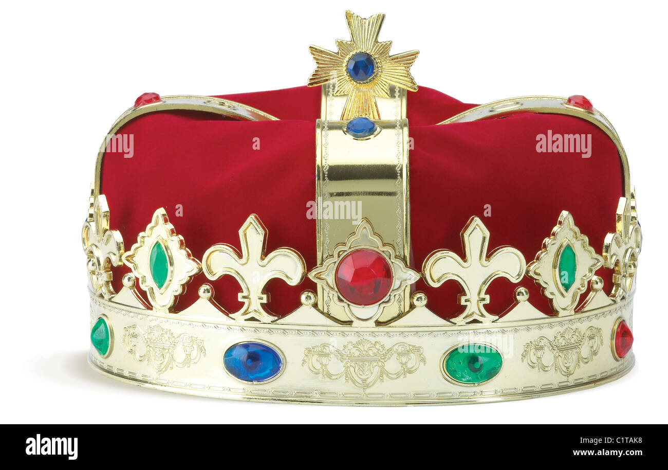 a royal crown isolated on a white background with clipping path - Stock Image