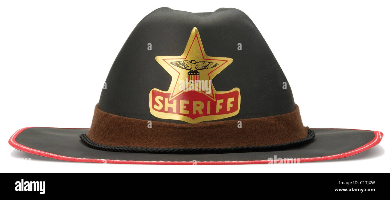 c0619e35 sheriff hat isolated on a white background with clipping path Stock ...