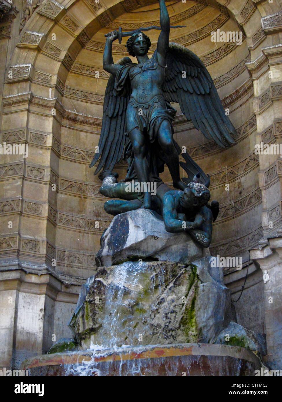 Sculpture Statue Devil Paris Stock Photos & Sculpture Statue Devil